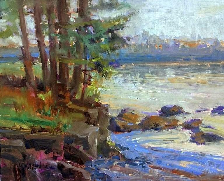 """""""Water's Edge"""" original fine art by Mary Maxam"""