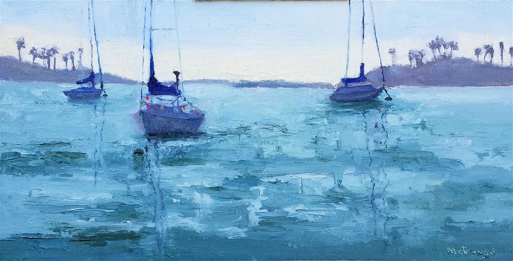 """Balboa-Newport Bay"" original fine art by Patricia Matranga"
