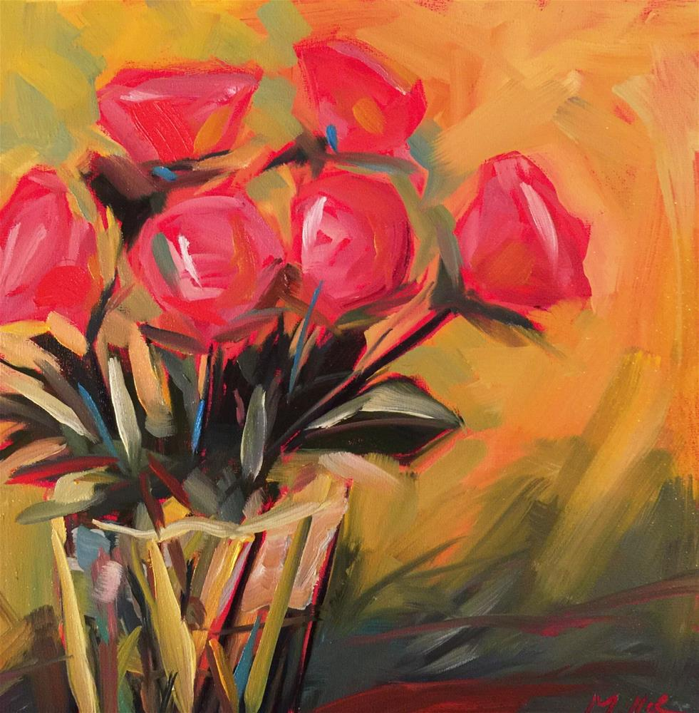 """0460: Bunch of Roses"" original fine art by Brian Miller"