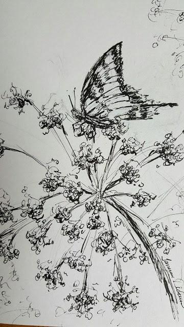 """Swallowtail on the Allium"" original fine art by Tammie Dickerson"