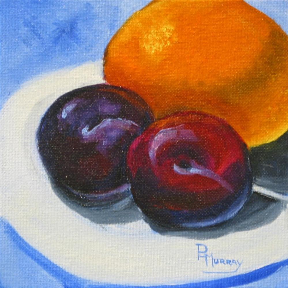 """""""Plum Good"""" original fine art by Patricia Murray"""