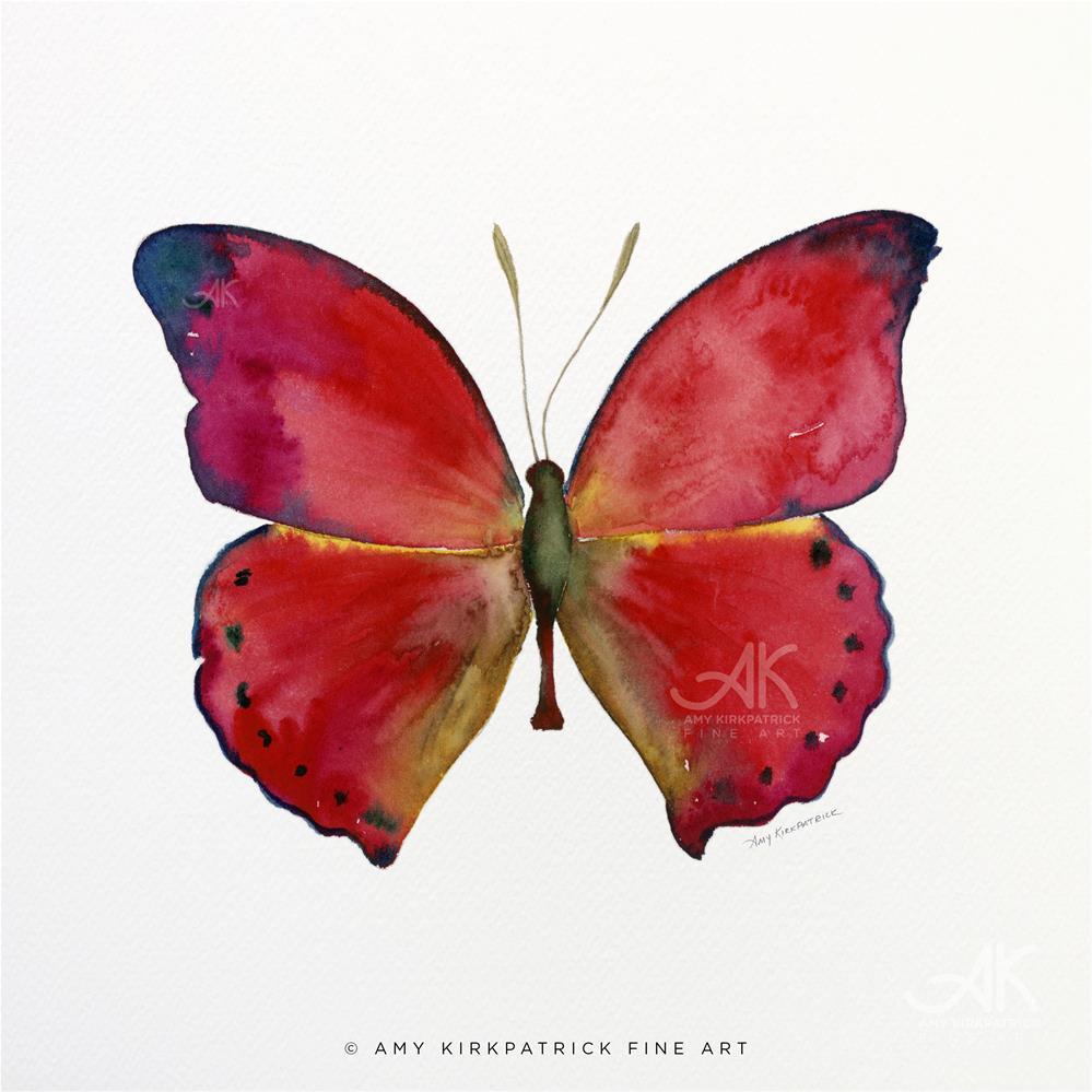 """#83 Red Glider Butterfly #0393"" original fine art by Amy Kirkpatrick"