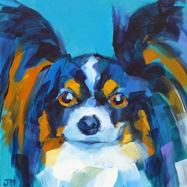 """Dog Portrait Commission"" original fine art by Jessica Miller"