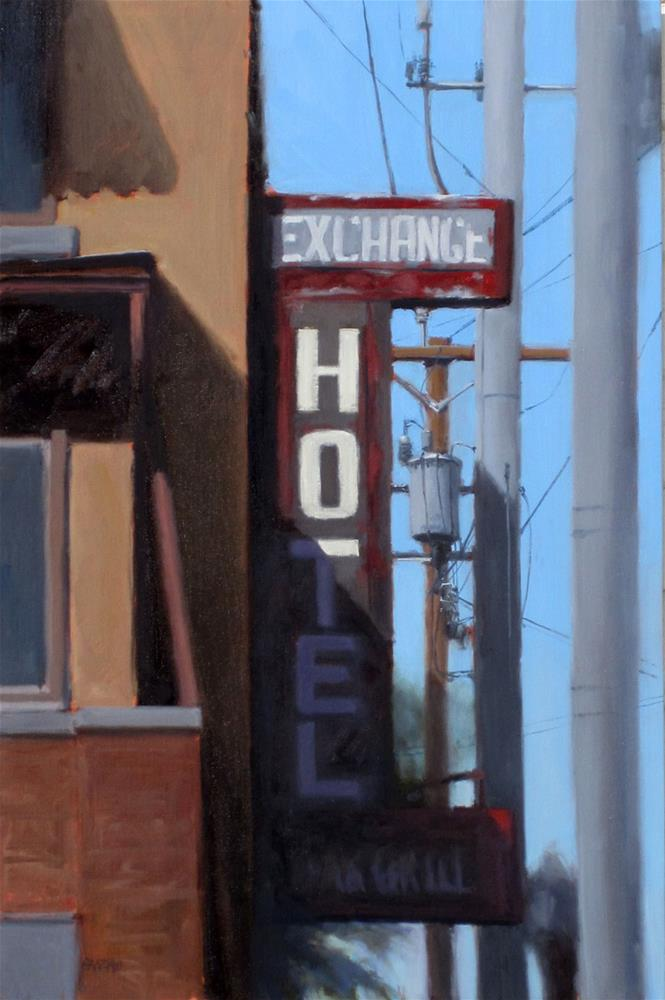 """Exchange Hotel"" original fine art by Dan Graziano"