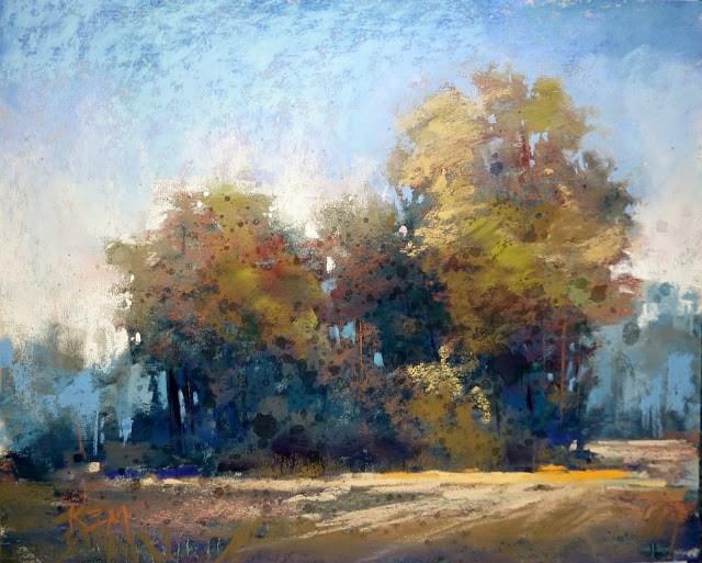 """""""Simplifying Trees"""" original fine art by Karen Margulis"""