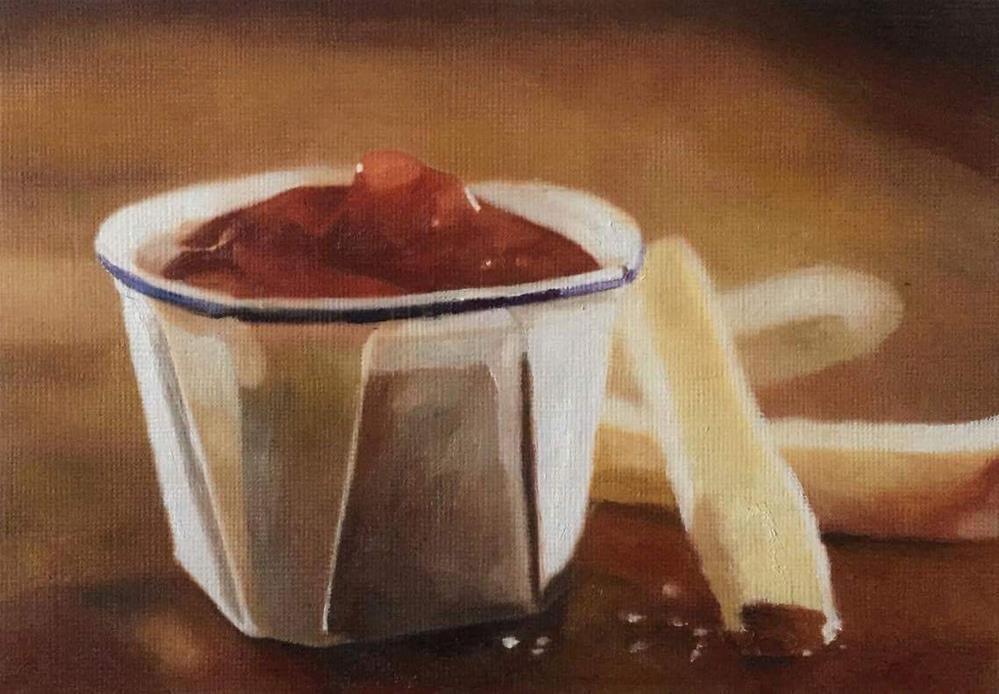 """Ketchup & Fries"" original fine art by John Cameron"