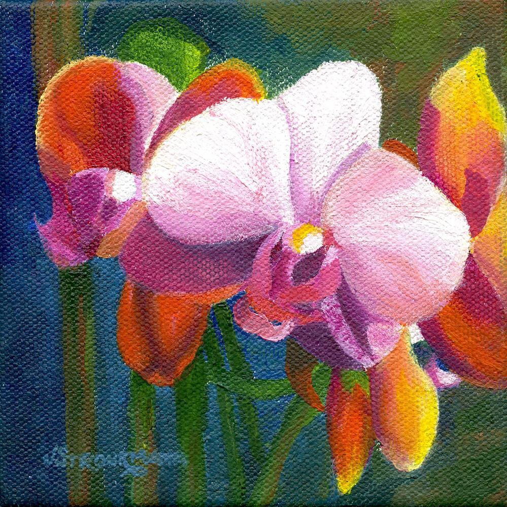 """Orchid Profusion"" original fine art by Jeanne Strohrmann"