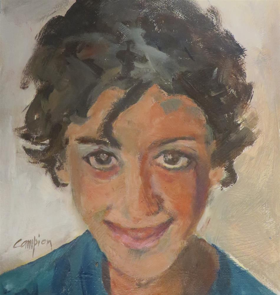 """778 Tareq"" original fine art by Diane Campion"