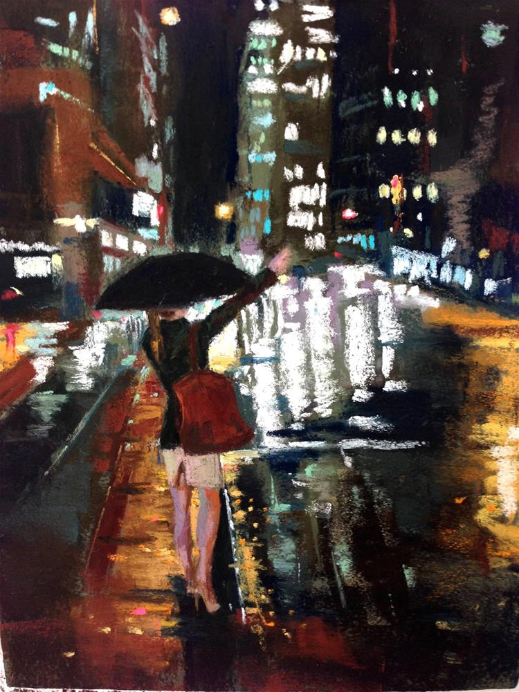 """Hailing"" original fine art by Michelle Wells Grant"