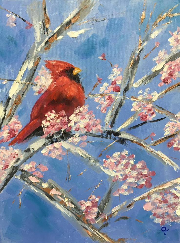 """Happy New Year"" original fine art by Gayle Lambeth"