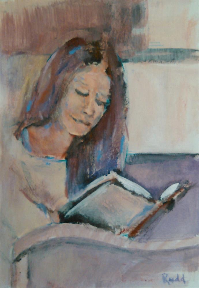 """By Myself"" original fine art by Ann Rudd"