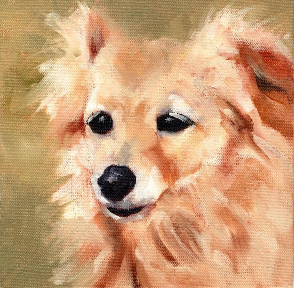 """Lost Dog"" original fine art by Marlene Lee"