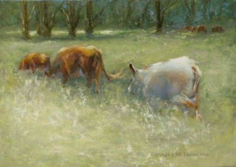 """""""In the Thick of It"""" original fine art by Dianne Mize"""