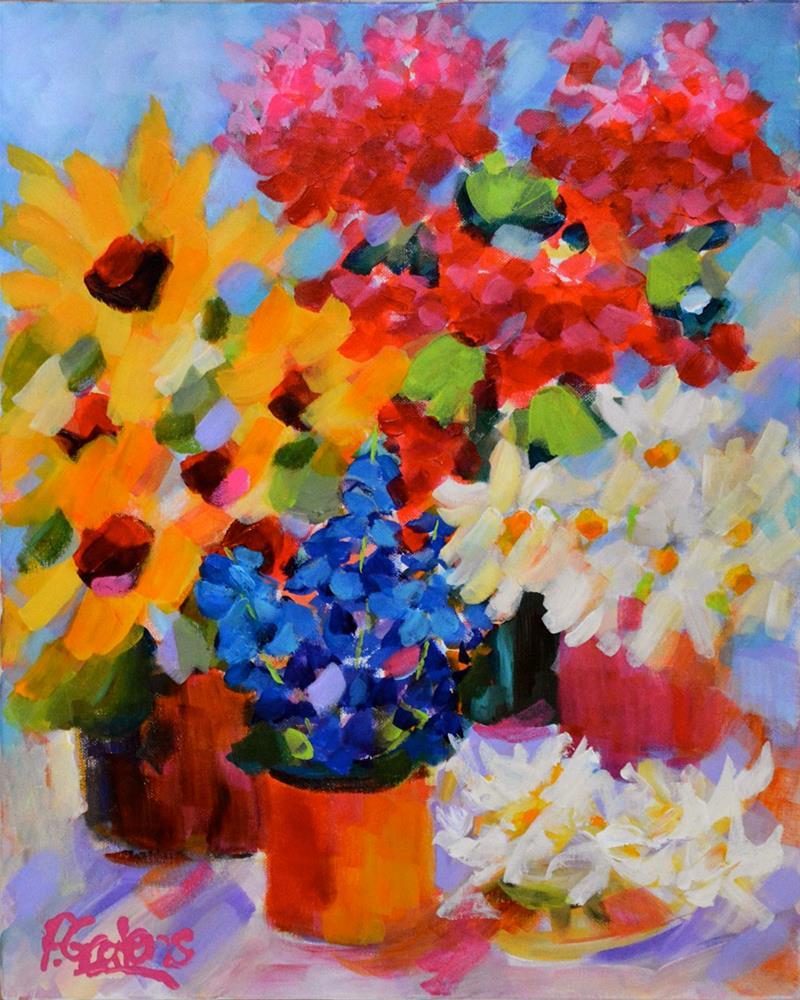 """""""Sunroom Sampler"""" original fine art by Pamela Gatens"""