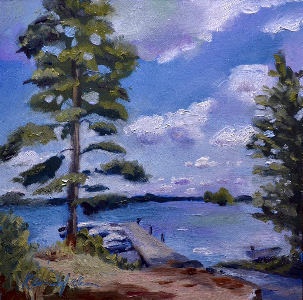 """""""A Beautiful Day in Pirkanmaa"""" original fine art by Karen Weber"""