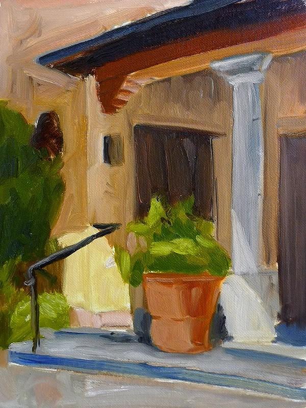 """Early Morning Porch"" original fine art by Adam Houston"