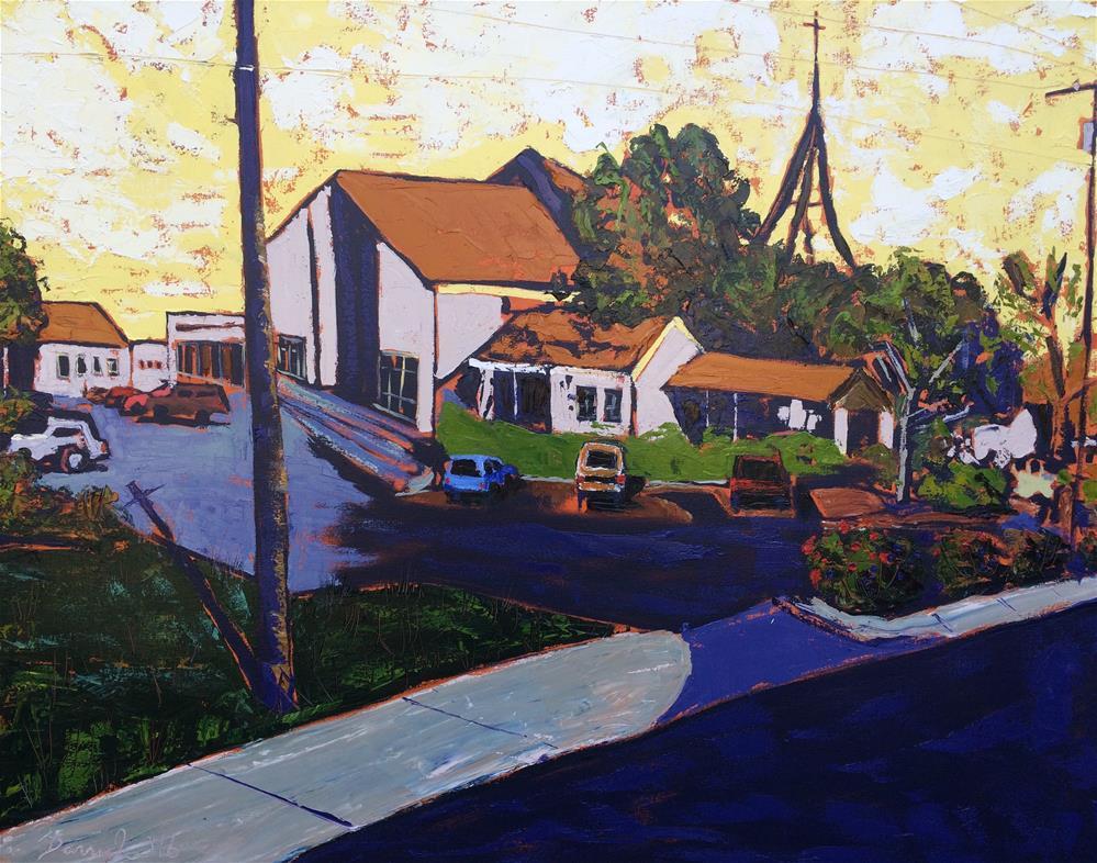 """""""Church on Anderson Ln."""" original fine art by Darryl Freeman"""