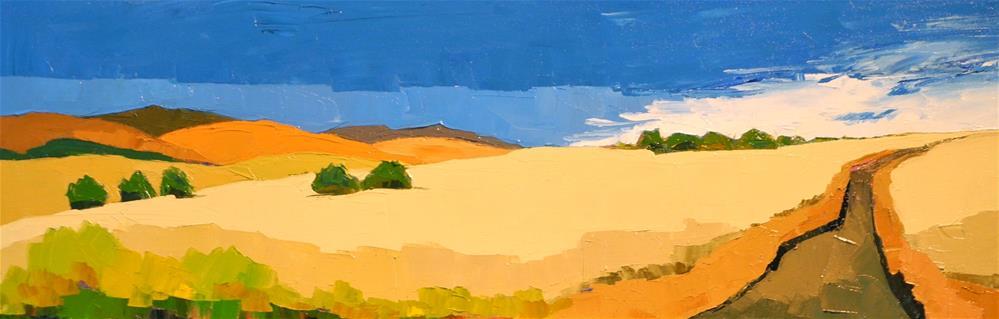 """The Lone Path"" original fine art by Donna Walker"