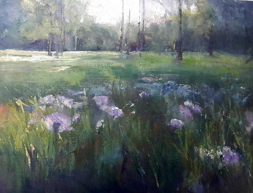 """""""In the woods"""" original fine art by Rentia Coetzee"""
