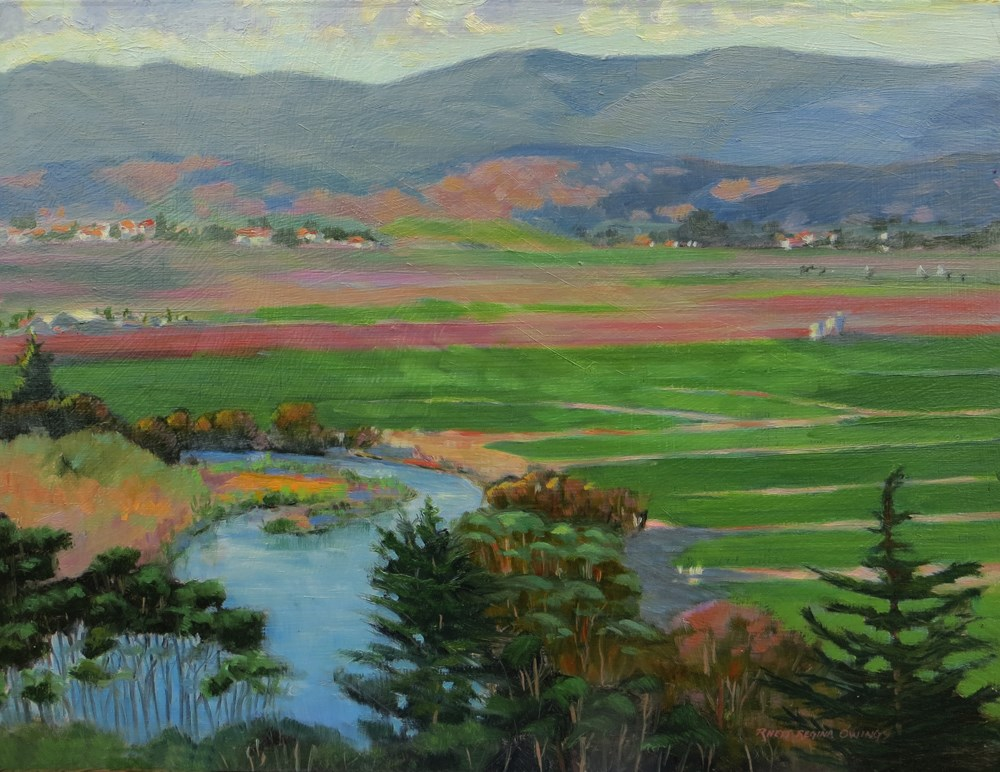 """Above the Salinas River"" original fine art by Rhett Regina Owings"