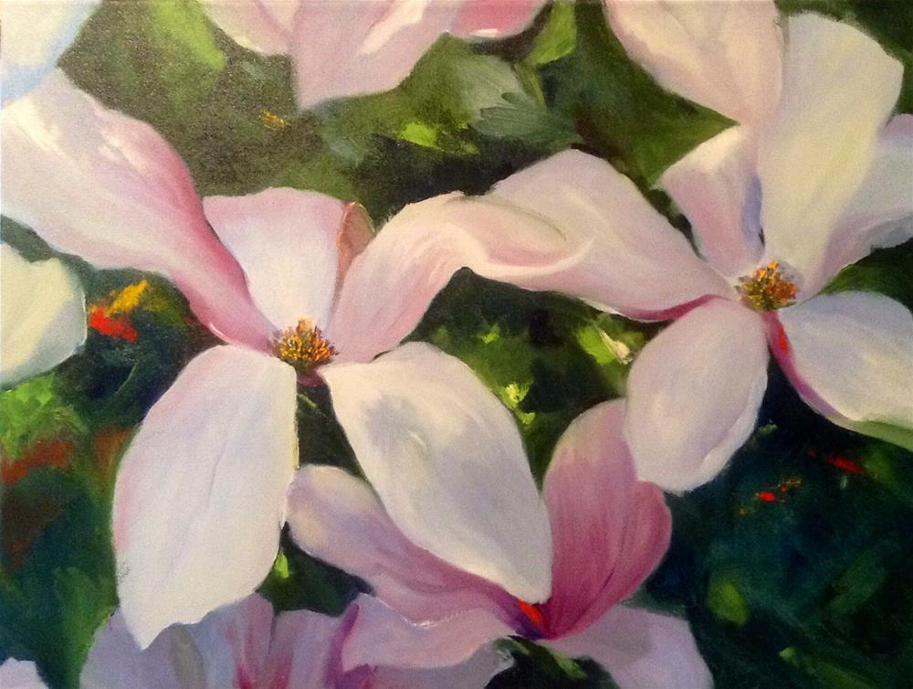 """""""Magnolias"""" original fine art by Cathy Boyd"""