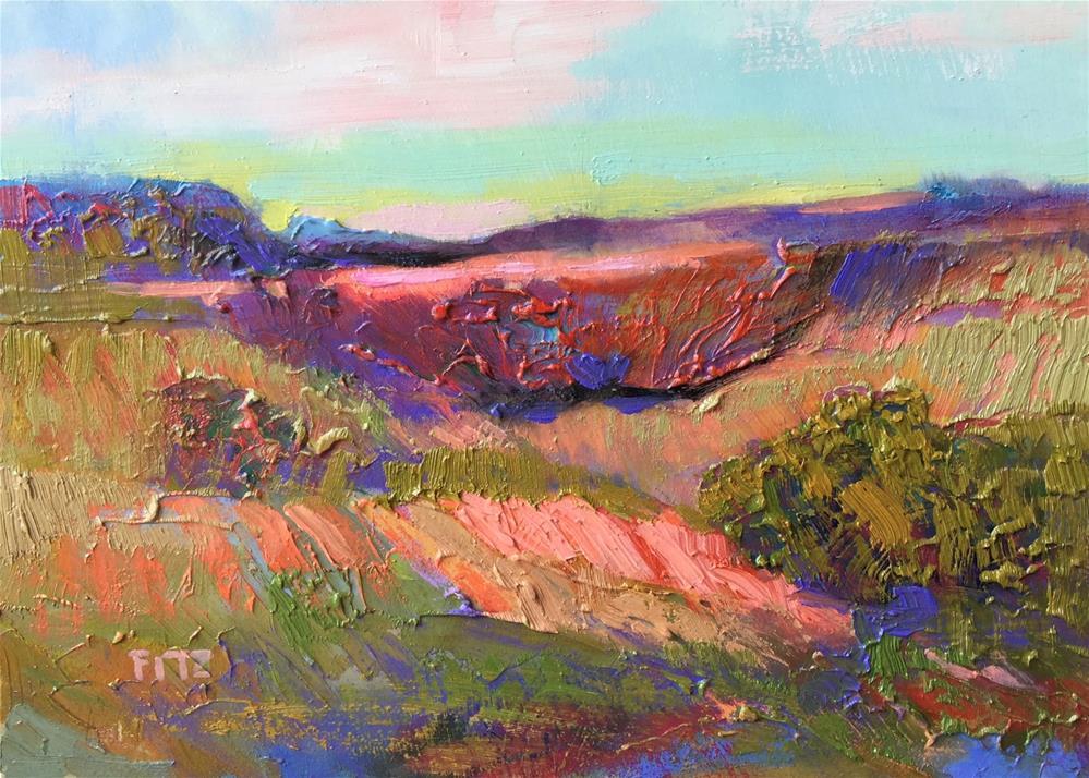 """Impasto Landscape 71"" original fine art by Charlotte Fitzgerald"