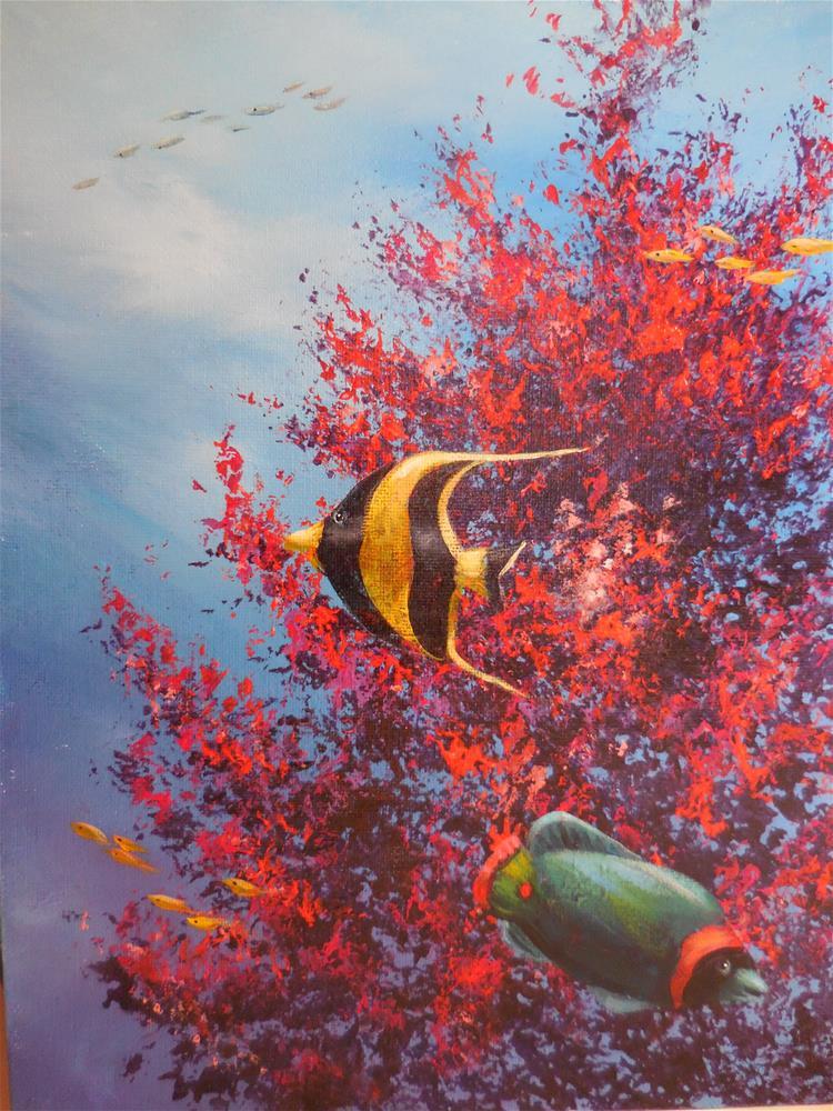 """Coral Reef"" original fine art by Terri Nicholson"