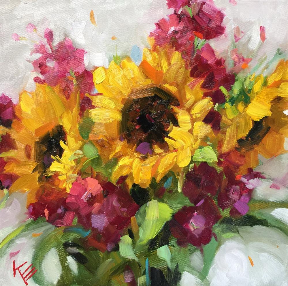 """""""Sunshine in your smile"""" original fine art by Krista Eaton"""