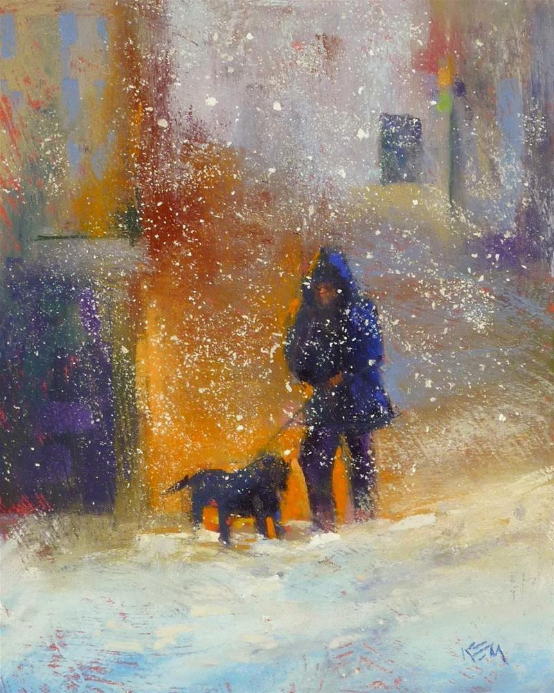 """""""Tips for Adding a Figure to a Pastel Painting part one"""" original fine art by Karen Margulis"""