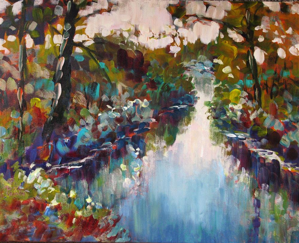 """Riverbank Reflections"" original fine art by Melissa Gannon"