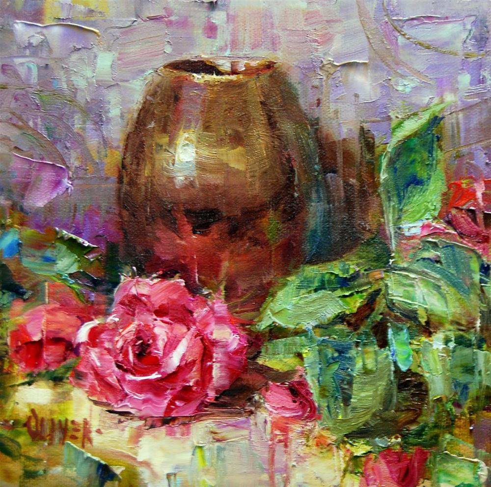 """""""Rose for the Fundraiser"""" original fine art by Julie Ford Oliver"""