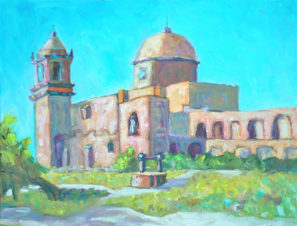 """Mission San Jose, San Antonio"" original fine art by Liz Zornes"