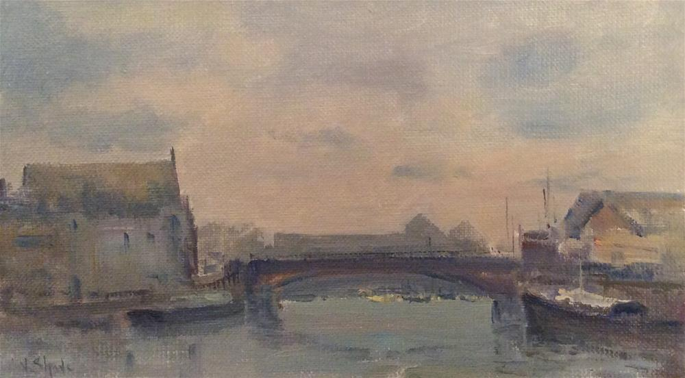 """Misty Day Weymouth"" original fine art by John Shave"