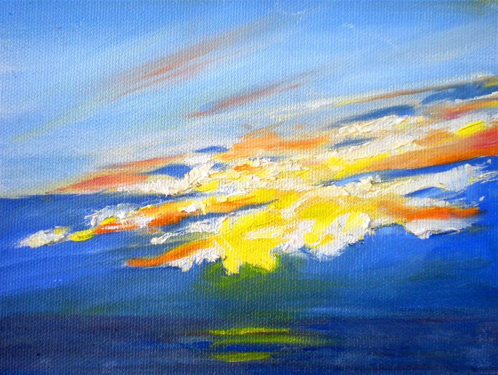 """""""Sunset Clouds  - 150528s"""" original fine art by richard rochkovsky"""