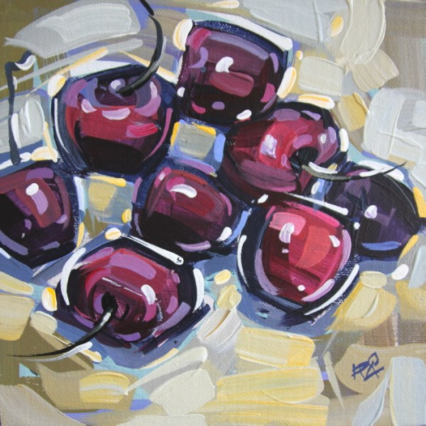 """Rough Cherries 2"" original fine art by Roger Akesson"