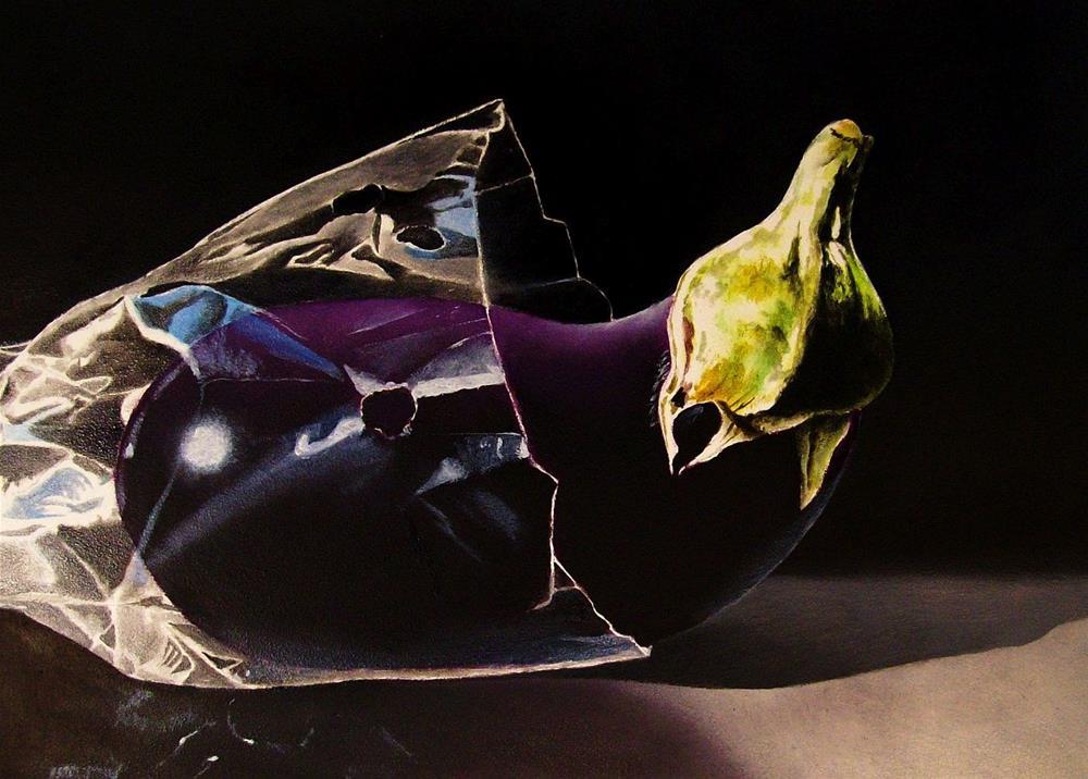 """""""Eggplant"""" original fine art by Jacqueline Gnott, TWSA, WHS"""