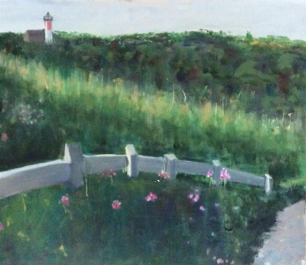 """Nauset Light Walk"" original fine art by Patty Barnes"