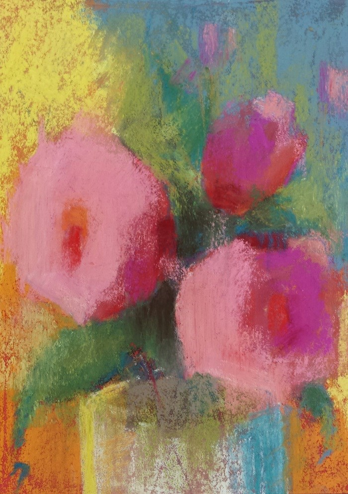 """""""Almost About Roses"""" original fine art by Cindy Haase"""
