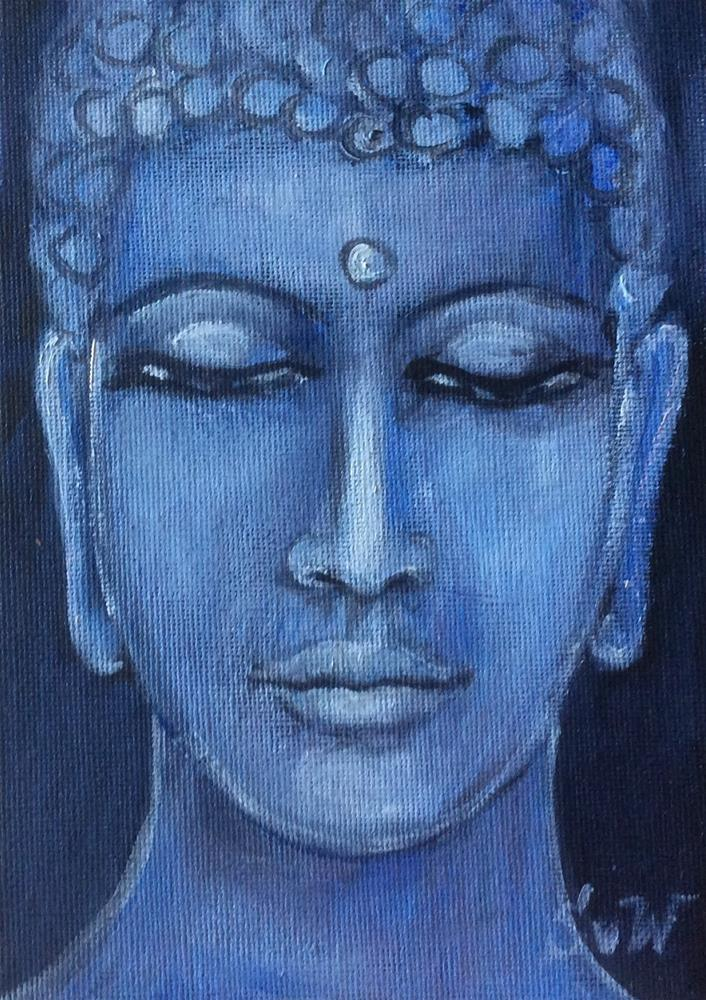 """Buddha time"" original fine art by Sonia von Walter"