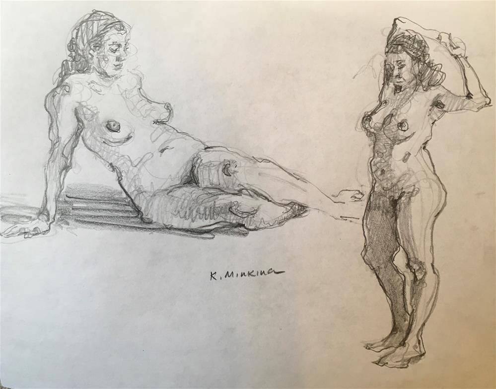 """figuary25"" original fine art by Katya Minkina"