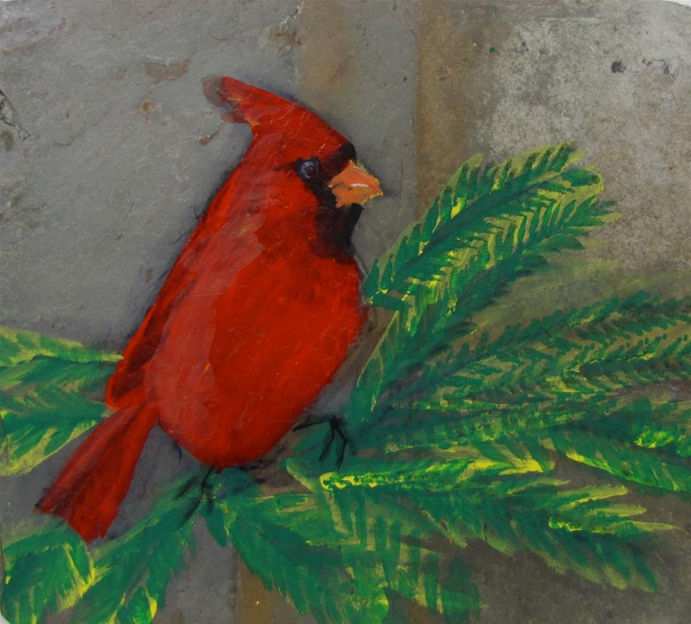 """""""Red and Green"""" original fine art by Christine Holzschuh"""