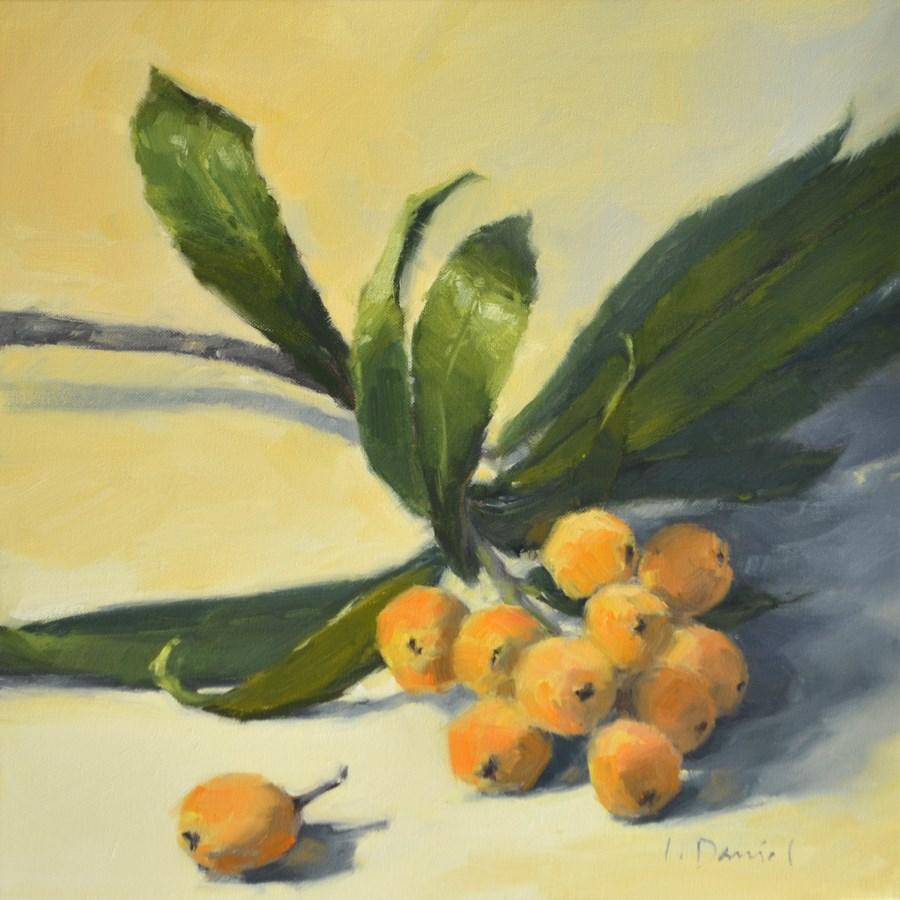 """Loquat Branch"" original fine art by Laurel Daniel"
