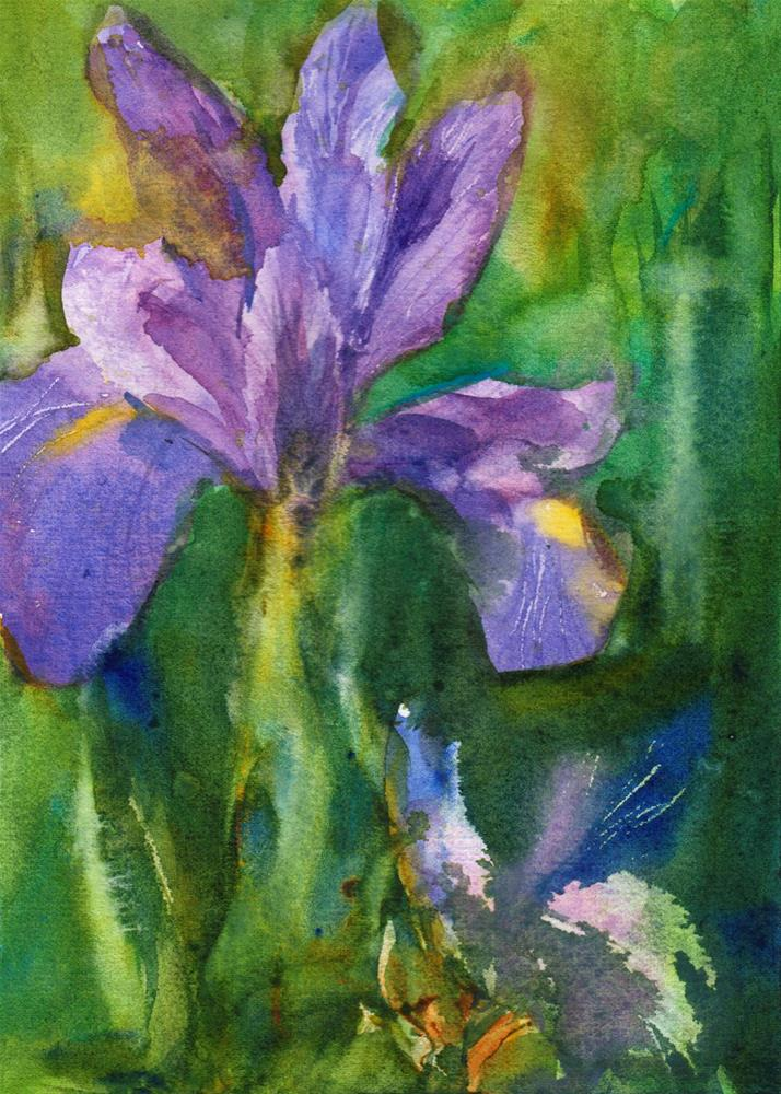 """Irises in Spring"" original fine art by Linda Henry"