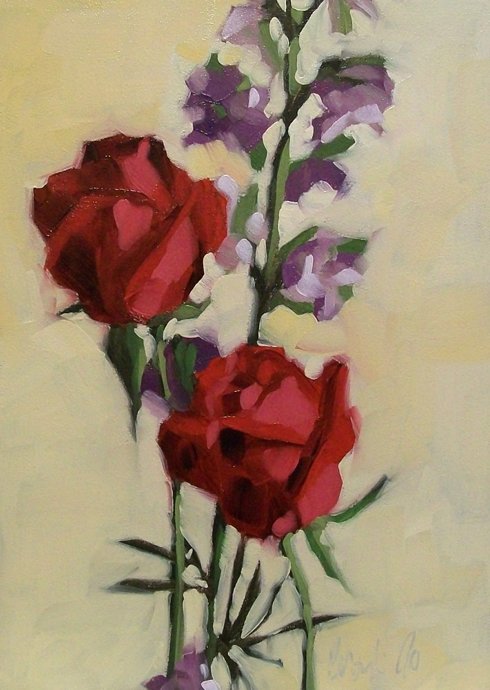 """My love of red"" original fine art by Brandi Bowman"