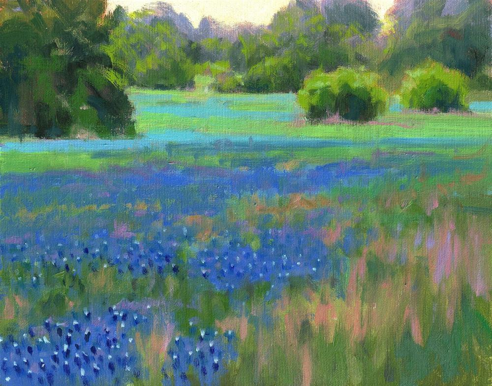 """""""Pastoral Blue"""" original fine art by David Forks"""
