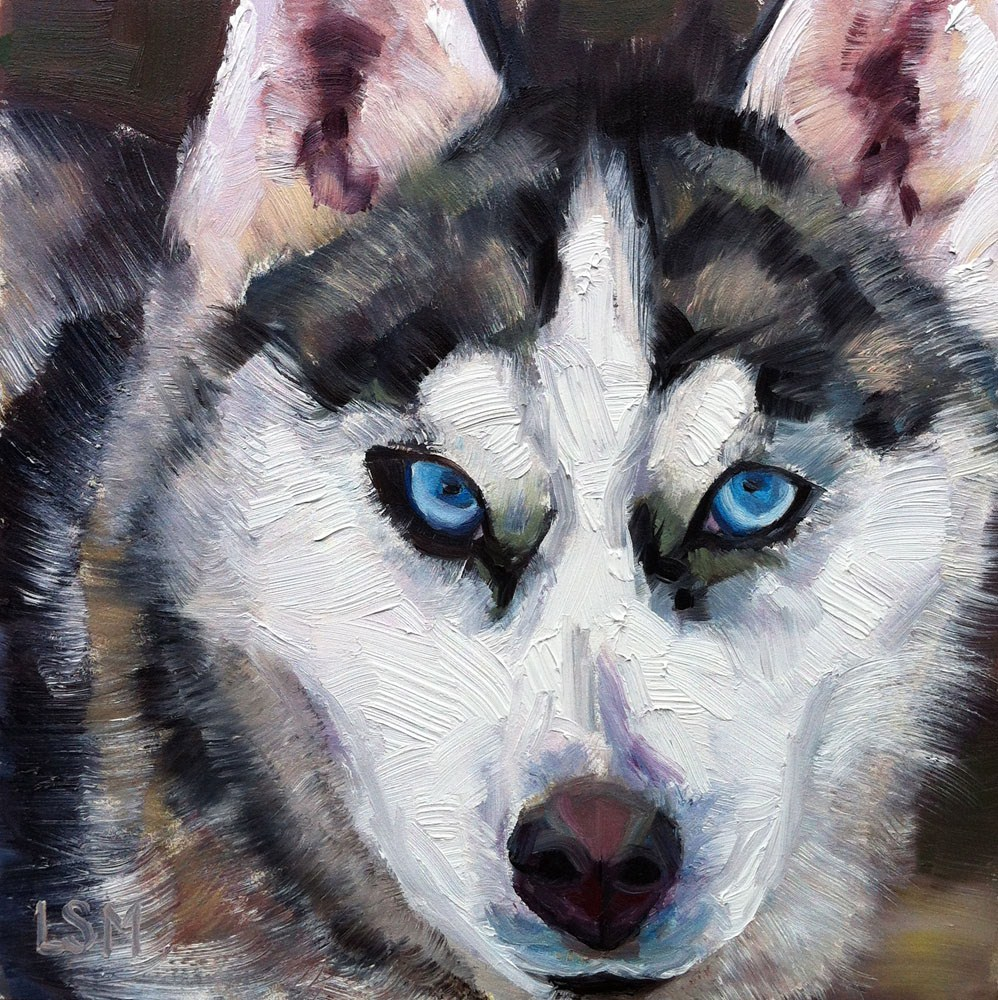 """Go UConn Huskies!"" original fine art by Linda Marino"