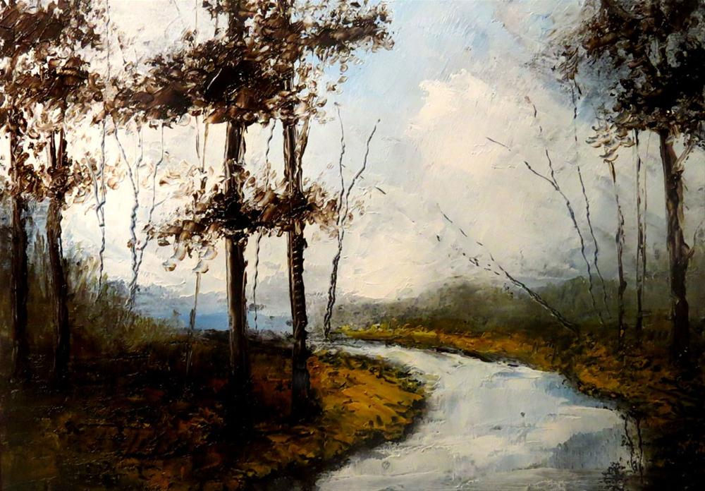 """""""Lonely River"""" original fine art by Bob Kimball"""