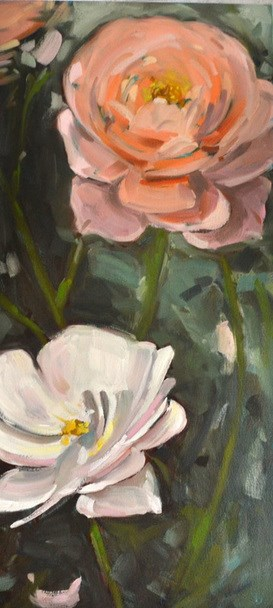 """Rose Sisters"" original fine art by Jessica Green"