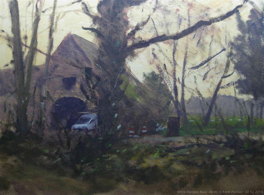 """White Kangoo Baak, The Netherlands"" original fine art by René PleinAir"