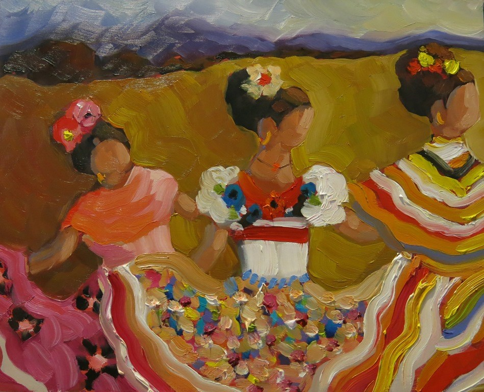 """""""TINY DANCERS"""" original fine art by Dee Sanchez"""